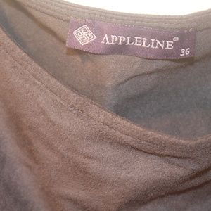 Appleline Tops - Appleline Women's faux suede short sleeve top S36